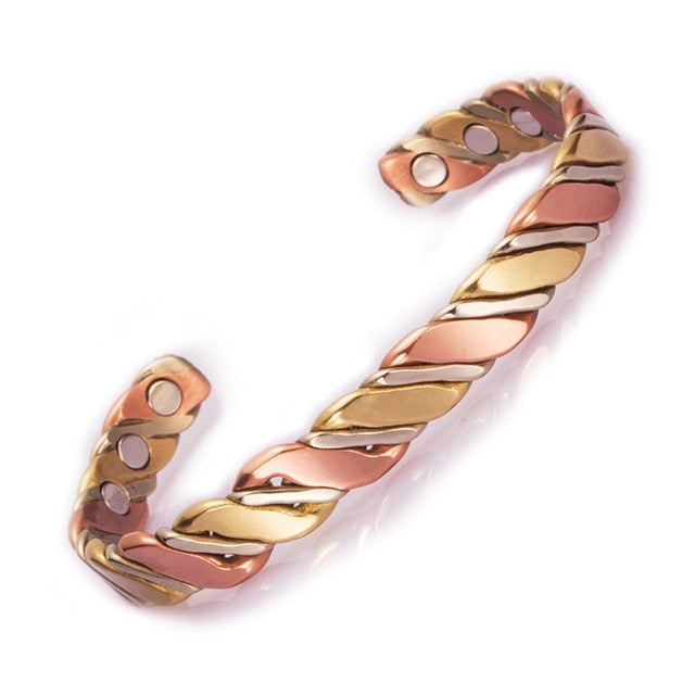 Twisted Energy Rose Gold Cuff Bracelet