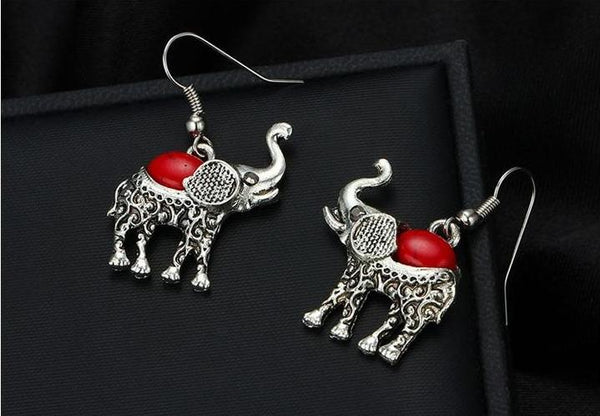 Bohemian Vintage Elephant Jewelry Sets