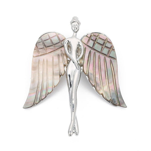 Angel Shell Brooch