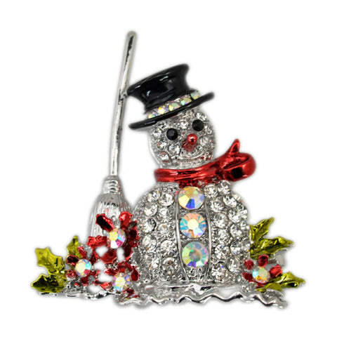 Jolly Snowman Brooch