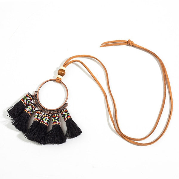 Ethnic Tassel Bead Necklaces