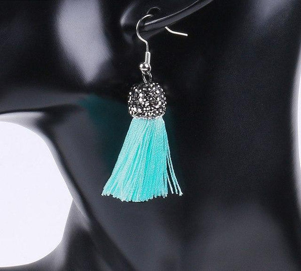 Boho Glitter Tassel Earrings