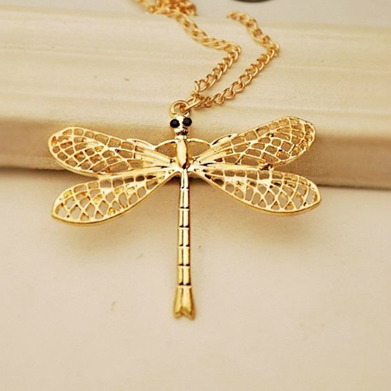 Web Winged Dragonfly Necklace