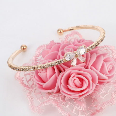 Crystal Butterfly Bow Bracelet