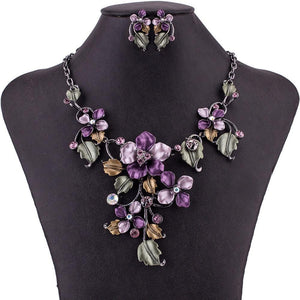 Floral Cascade Jewelry Set