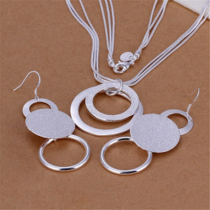 Silver Hoop Jewelry Set