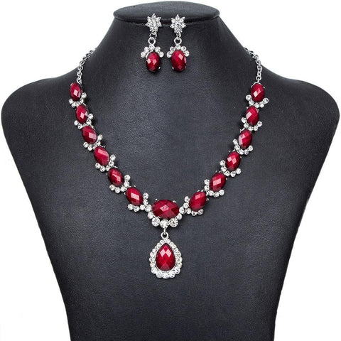 Elegant Evening Crystal Jewelry Sets