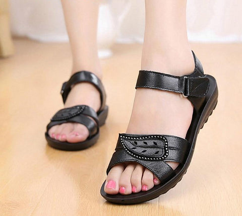 Leather Leaf Sandals