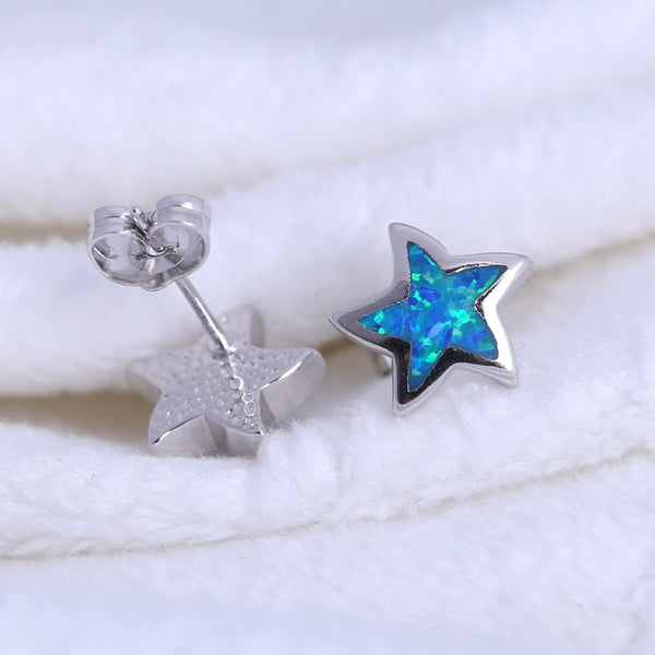 Ocean Shimmer Starfish Opal Earrings