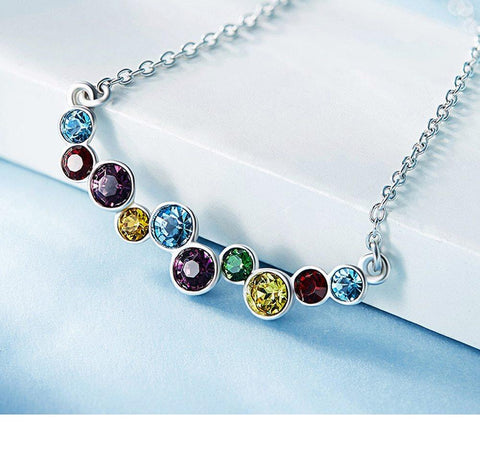 Rainbow Crystal Drop Necklace