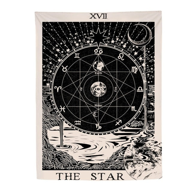 Star Tarot Card Styled Tapestry