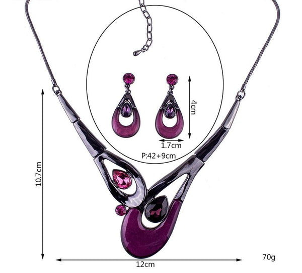 Tear Drop Glaze Jewelry Sets
