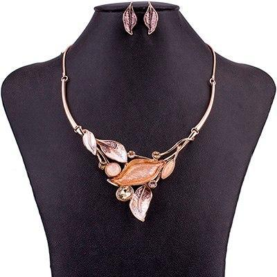 Leaf Cluster Jewelry Sets