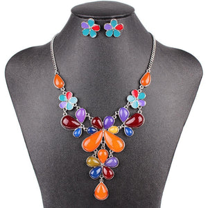 Floral Drop Jewelry Set