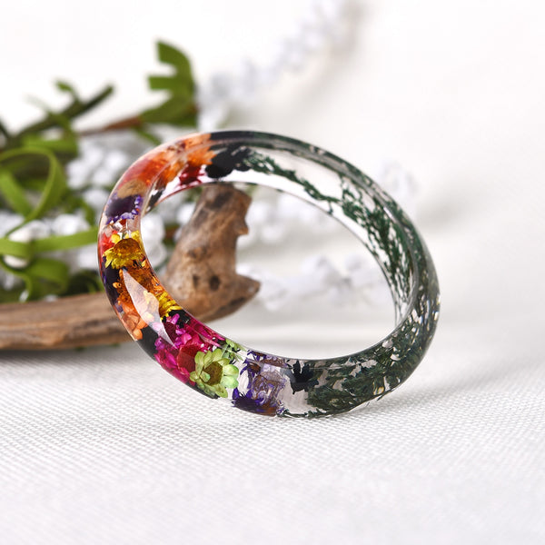 Rainbow Leaf Flower Bracelet