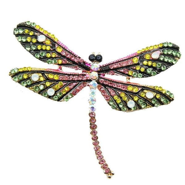 Jungle Pink Dragonfly Brooch