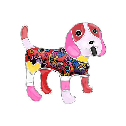 Cute Beagle Dog Brooches