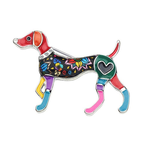 Cute Whippet Dog Brooches