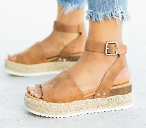 Casual Wedged Sandals