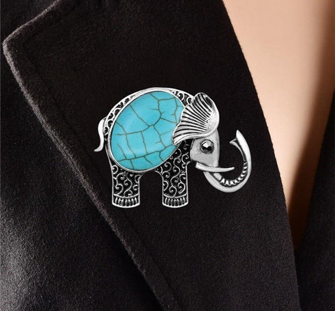 Cute Antique Elephant Brooch