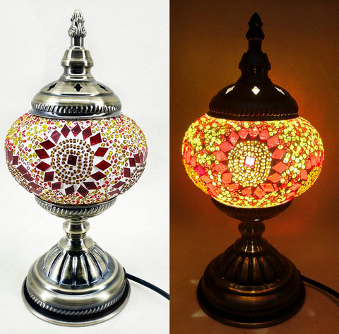 Stunning Handmade Bohemian Mosaic Table Lamps