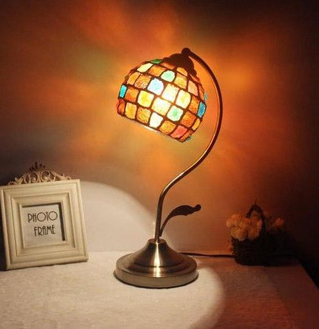 Vintage Bohemian Mosaic Table Lamp