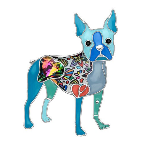 Boston Terrier Dog Brooches