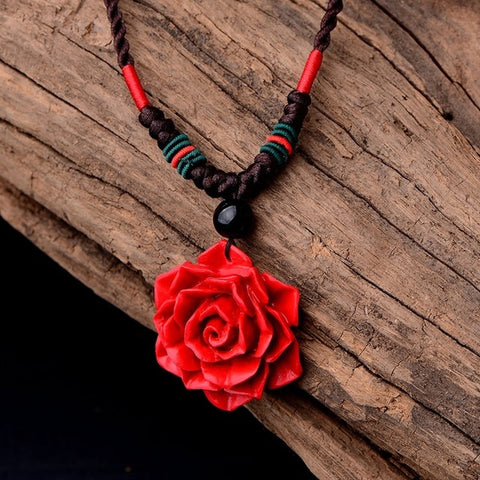 Hand Crafted Romantic Rose Pendant