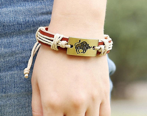 Leather Constellation Wrap Bracelet