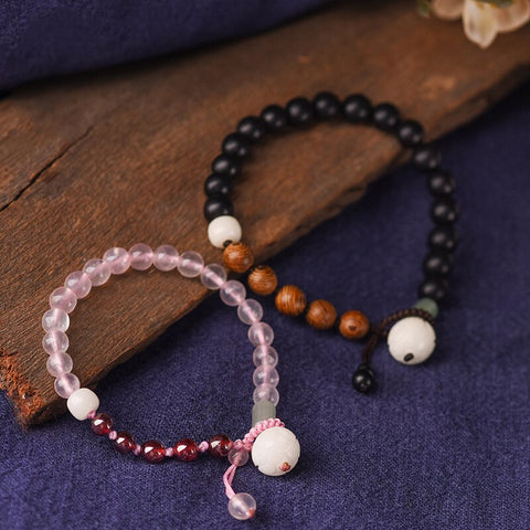 Ethnic Crystal Bead Couples Bracelets