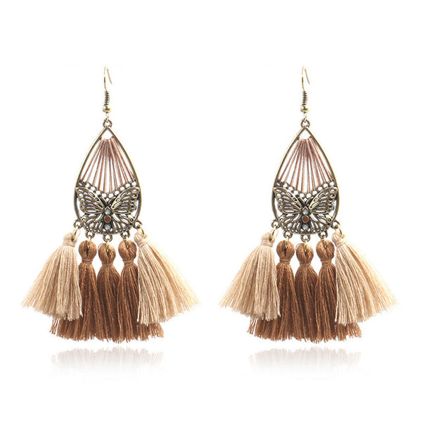 Boho Tassel Statement Earrings