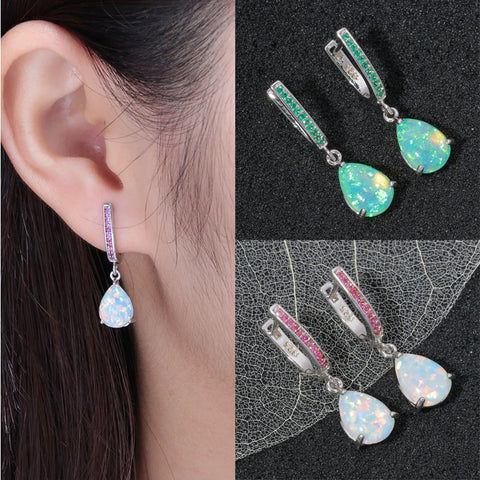 Water Drop Opal Earrings