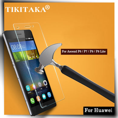0.3mm Ultra Thin Tempered Glass for Huawei Ascend P6 P7 P8 Lite HD Clear 9H Anti-Scratch Glass Screen Protector Protective film