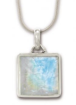 Moonstone Pendants with Sterling Silver Chain