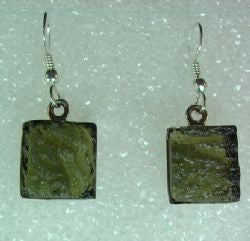 Natural Moldavite Earrings