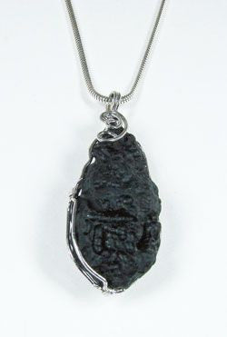Tektite Pendants with Sterling Silver Chain
