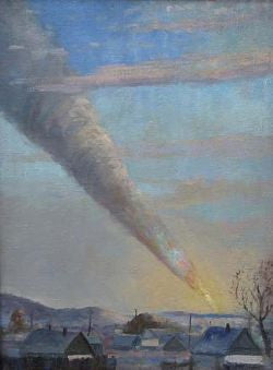 The Fall of the Sikhote Alin Meteorite Art Print