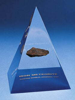 Meteorite in a Pyramid Paperweight