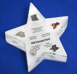 Meteorite Collection Star Paperweight