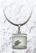 Sterling Silver Lunar Locket on Elegant Satin Cord