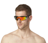 LUXPARD Men Women Sports Polarized Sunglasses REVO Red Lens LS001A