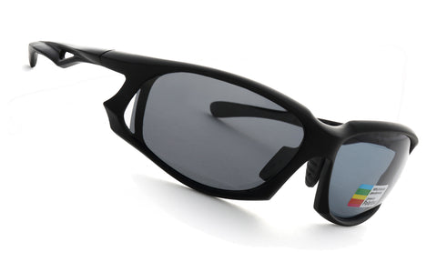 LUXPARD Men Women Sports Polarized Sunglasses Gray Lens LS002B