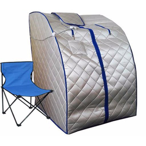 Portable Far-Infrared In Home Sauna: Full Body Slimming Spa Tent w/ Footpad
