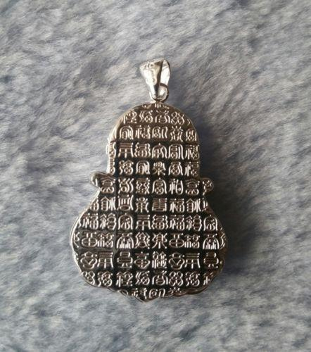 Inspiring Majestic 3D Sparkling Buddha .999 Solid Silver Medium Size Pendant - 3 Royal Dazzy