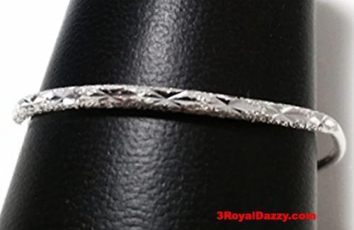 New Handmade 925 Solid Silver Diamond cut & Bell Newborn Baby Adjustable Bangle - 3 Royal Dazzy