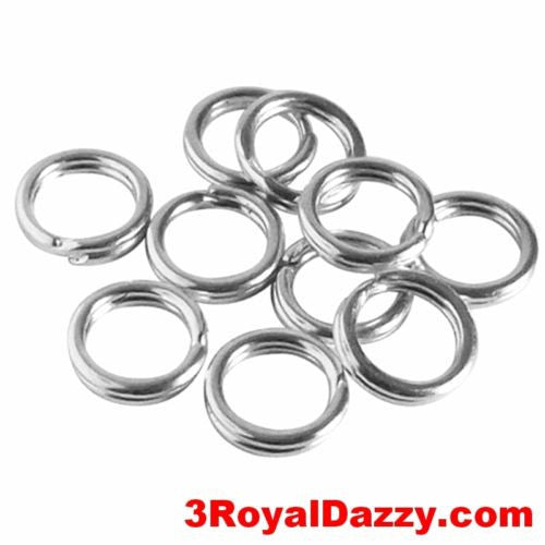 10 Split Jump Rings 5mm Split ring Stainless steel Jewelries Attachment Finding - 3 Royal Dazzy