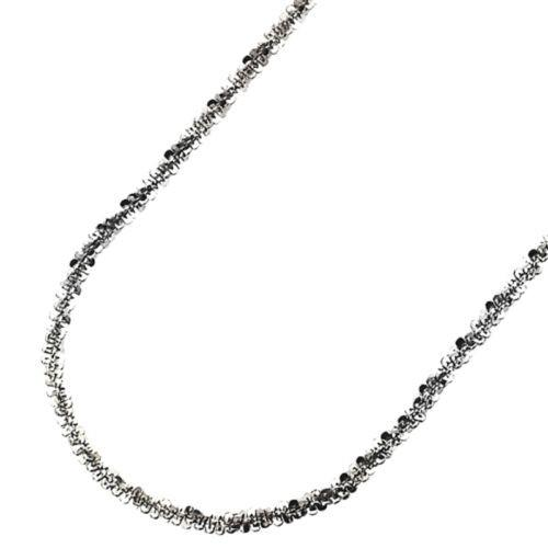 "18k gold layer 925 Silver Popcorn Sparkle Rock Italian Necklace Chain- 2MM - 22"" - 3 Royal Dazzy"