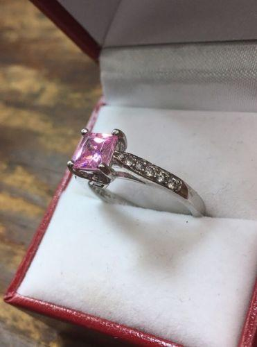 Royal Dazzy Exclusive Pink Cubic Zirconia Engagement Wedding ring Size 8 - 3 Royal Dazzy