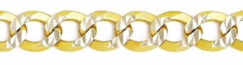 Italy diamond cut 14k white & yellow gold layered over 925 silver 3 1mm  Curb 20