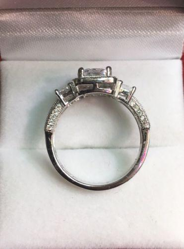 New Past Present Future Cubic Zirconia Handmade Engagement Wedding ring size7 - 3 Royal Dazzy